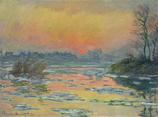1s500クロード・モネ《セーヌ河の日没、冬》 1880年.jpg