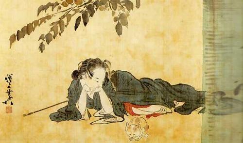 s500_横たわる美人に猫図 img_bijin2.jpg